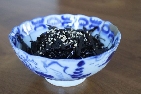 transformed into preserved Tsukudani Kombu