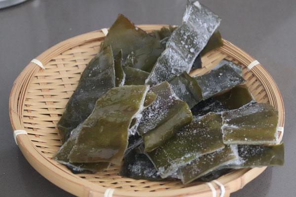 collected Kombu after making dashi stock