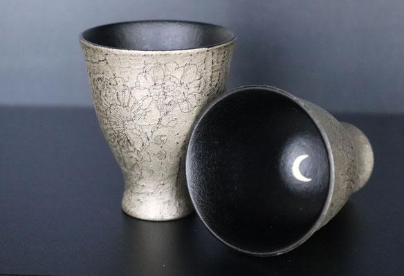 Evening garden sake cup by Sayo Kuroki