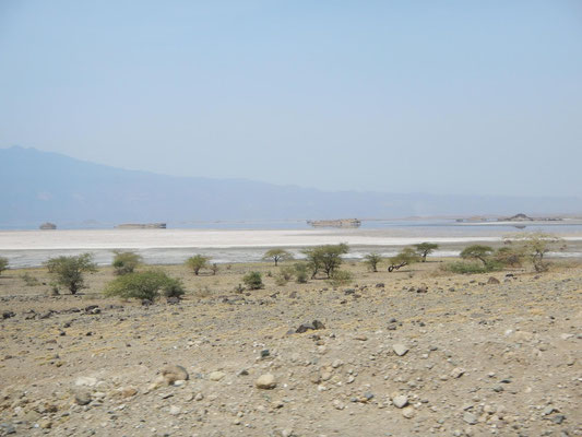 Blick zum Lake Natron / View to the Lake Natron