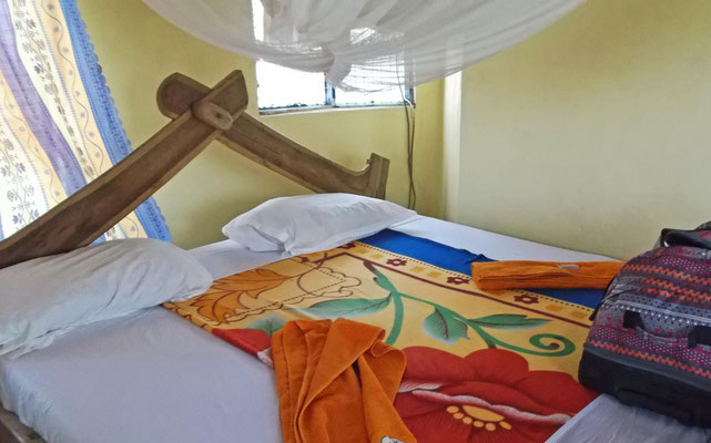 Bett im Maasai Giraffe Camp / Bed in Maasai Giraffe Camp