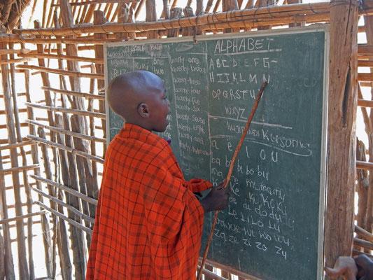 Maasai - Schule / Maasai school