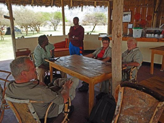 Speiseraum des Maasai Giraffe Camp / Dining room Maasai Giraffe Camp