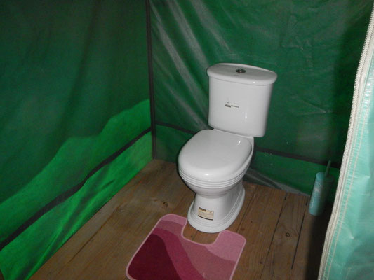 Toilette im Serengeti Heritage Camp / Toilet in the Serengeti Heritage Camp