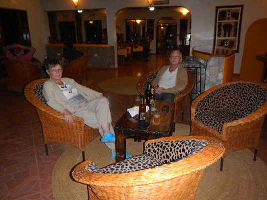 Lounge der Bougainvillea Lodge
