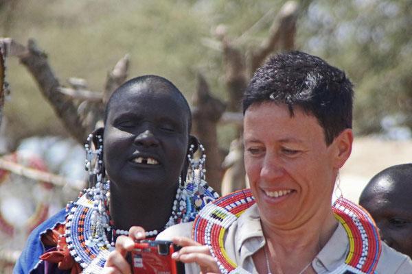 Maasai und Gast / Maasai and guest