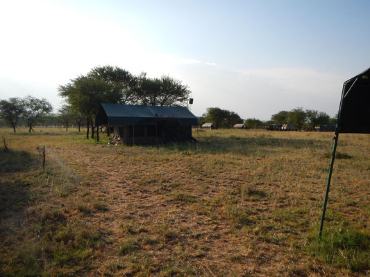 Blick auf das Serengeti View Camp / View of the serengeti view camp