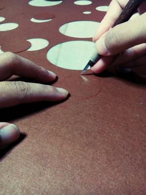 シンガポールデザイナー✕日本の手わざ「KYO」プロジェクトの型紙制作。