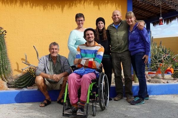Zu Besuch: Thomas, Doris, Fabi, Céline (auch ein Besuch aus der Schweiz) und wir zwei