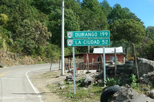 Auf der Mex40 nach Durango