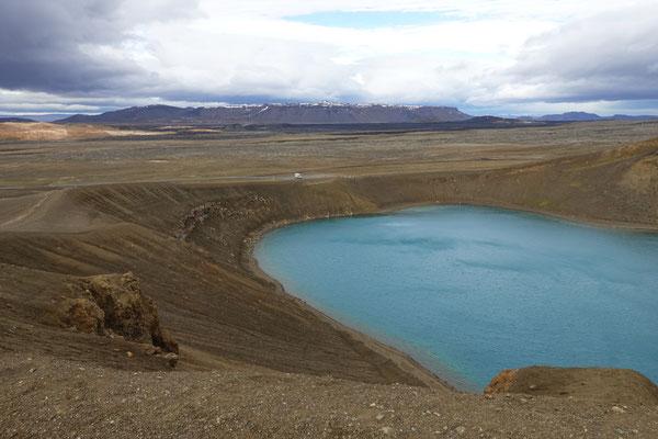 Der kleine Kratersee Viti
