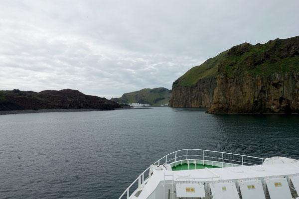 Mit dem Schiff zur Insel Heimaey
