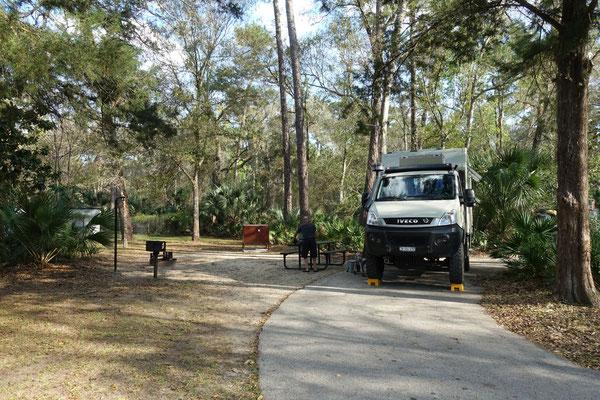 Auf dem Juniper-Campingplatz im Ocala National Forest