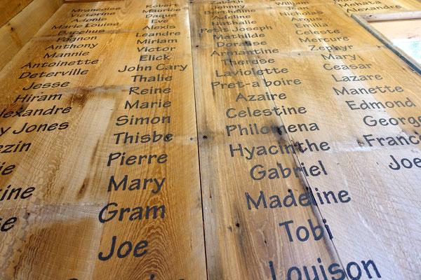 Hinter jedem Namen steckt eine traurige Vergangenheit