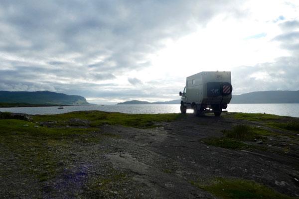 Spezieller Nachtplatz auf der Insel Mull