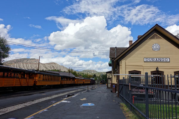 Durango, von hier fährt eine alte Dampflok bis nach Silverton