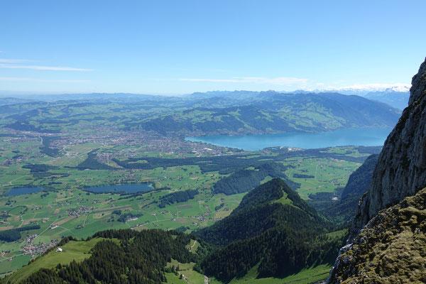 Herrlicher Blick auf den Thunersee...