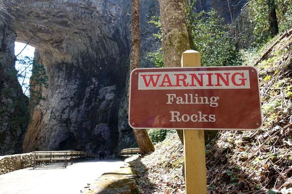 Achtung, die Steine könnten fallen...