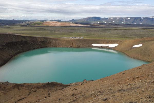 Im Gebiet des Vulkans Leirhnjukur beim Myvatn See