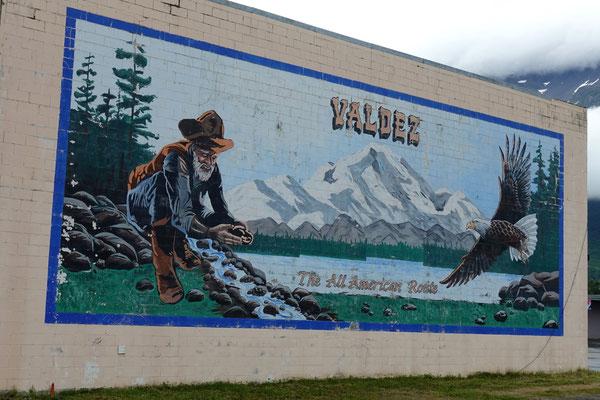 Wandbild in Valdez