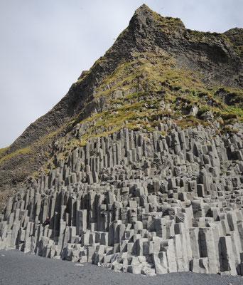 Die schönen Basaltsäulen...
