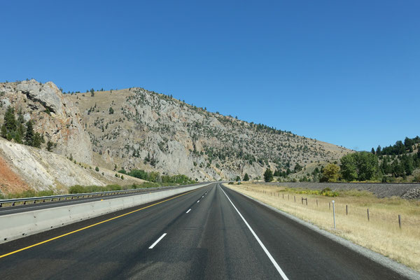 Wir machen Strecke in Montana