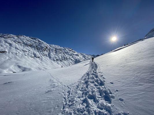 Schneeschuhtour Richtung Val Fedoz