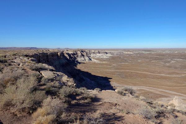 Hügel und Täler und Wüste...