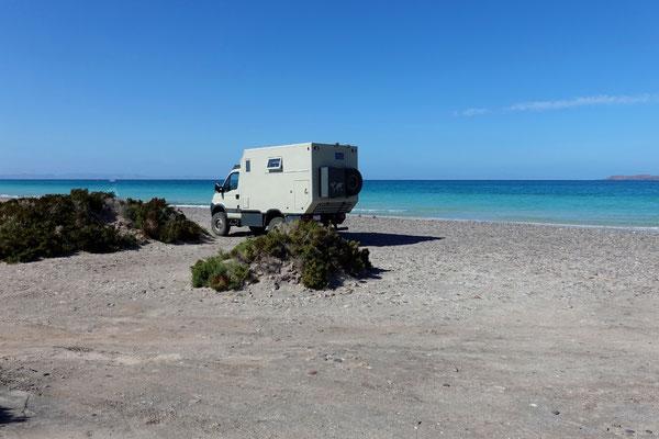 Am Strand El Tecolote bei La Paz