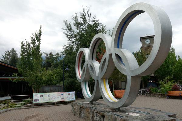 Wir hüpfen durch die Olympiaringe...
