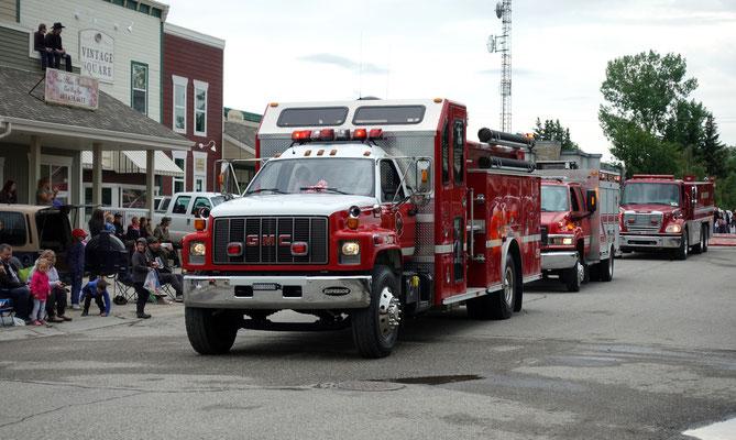 Auch die Feuerwehr gehört zur Parade