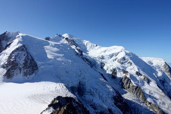 Blick auf den berühmten Mont Blanc 4809 m