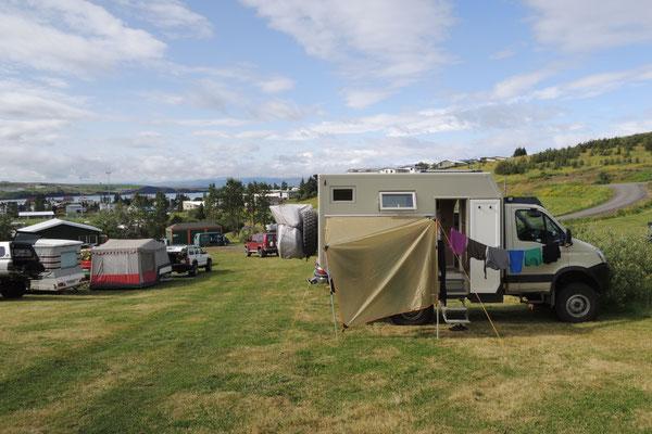 Der Camping ist gut besucht
