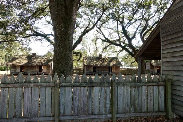 In solchen Hütten wohnten die Sklaven...