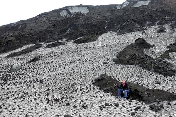 Am Fusse des Dyngjujökull