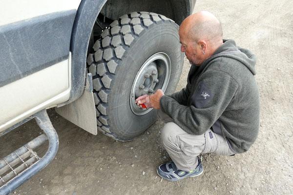Luft aus den Reifen...