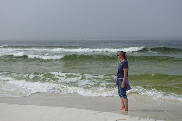 Es klart auf...wir geniessen das Meer