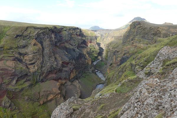 Blick in den Markarfljot-Canyon