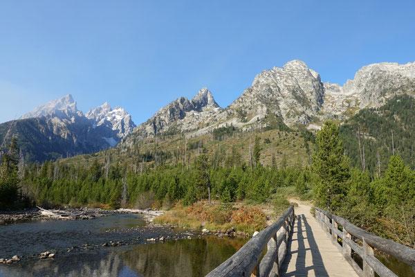 Wandern zum String- und Leigh Lake