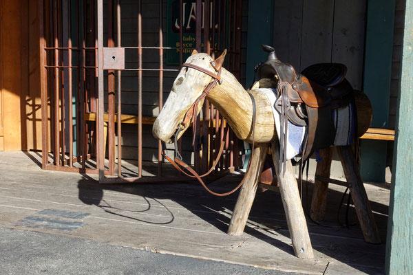 Man könnte hier ein Pferdchen mieten...