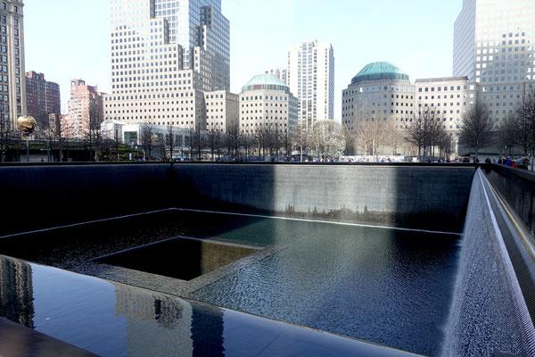 Beim eindrücklichen 9/11 Memorial