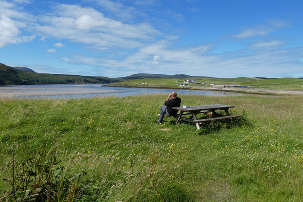 Pause und Vogelbeobachtung an der Westküste