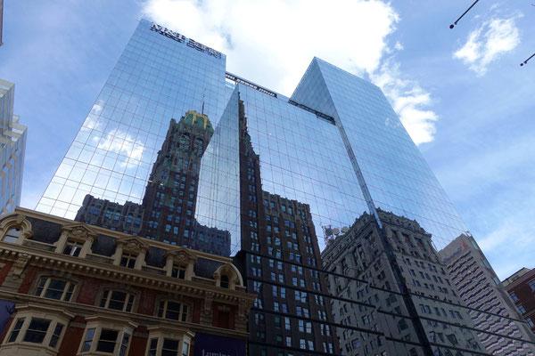 Spiegelglatte Flächen in Baltimore Downtown