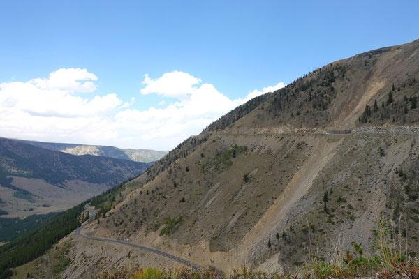 Wir erklimmen den hohen Beartooth-Pass...3337m