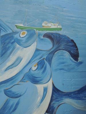 ...zeigt kunstvolle Wandbilder