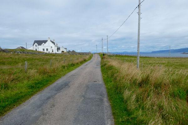 In Iona fahren nur die Einheimischen Auto...