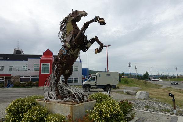 In Whitehorse steht das eiserne Pferd