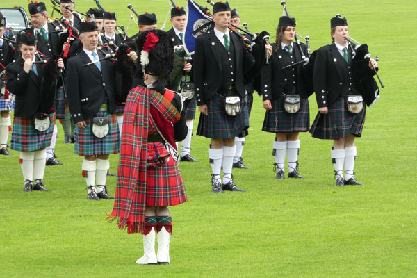 Musikalischer Auftakt an den Highland-Games in Inverness