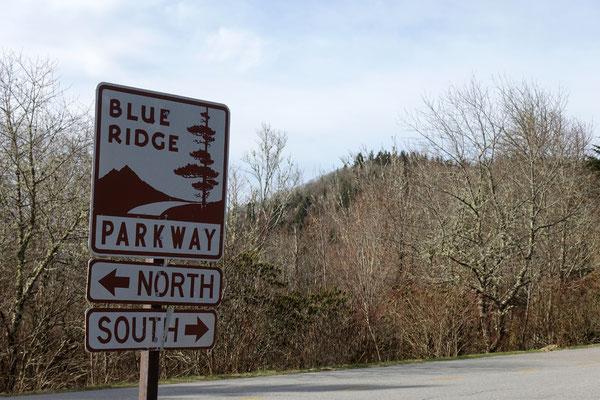 Der Blue Ridge Parkway, unser Wegweiser