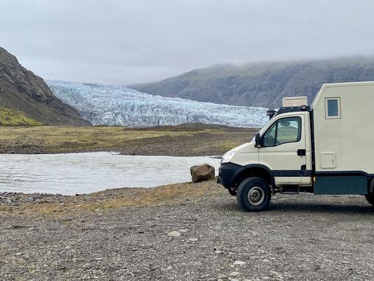 Pause am Gletscher
